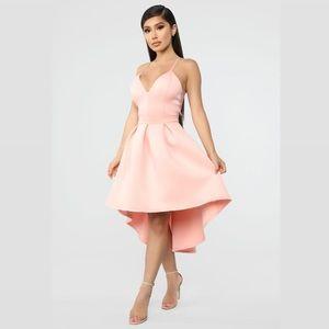 New Fashion Nova just a kiss blush high low dress